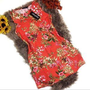 ☕️5/$20 BooHoo Floral Shift Dress Juniors 16